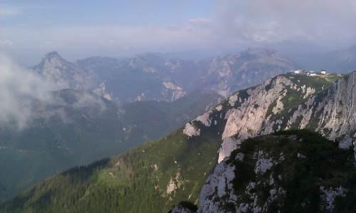 Blick vom Alberfeldkogel auf den Traunstein