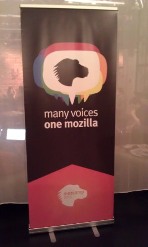 Many Voices, one Mozilla (Plakat in rot)