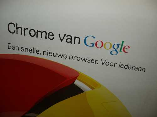 Plakatwerbung für Chrome in Holland