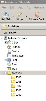 Die neue Archiv-Funktion für alte Mails